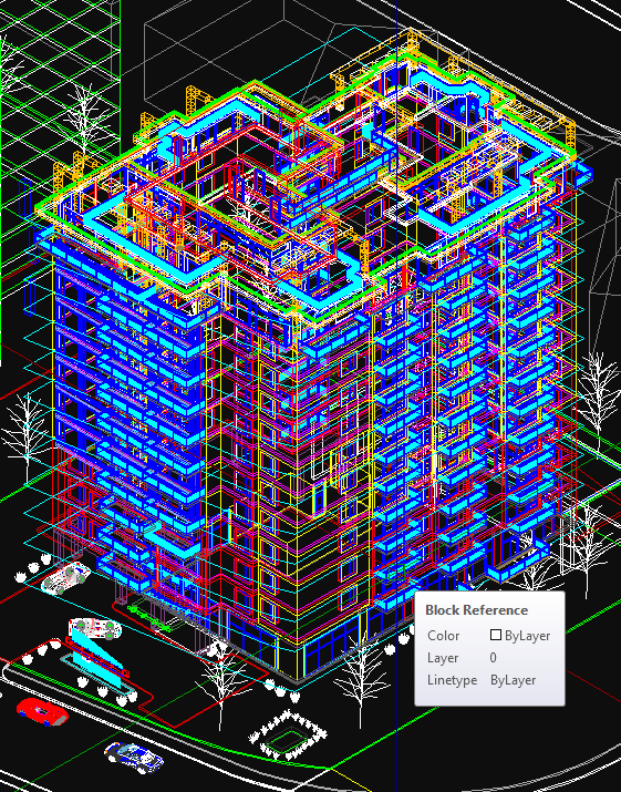 3D mesh of a condo tower